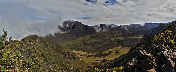 Panoramic view of the Haleakala Crater , Maui