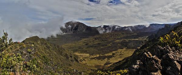 Panoramic view of the Haleakala Crater , Maui