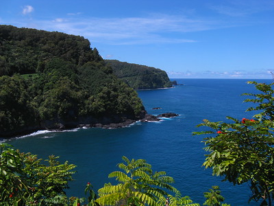 Honomanu Bay, Road to Hana, Maui, Hawaiian Islands