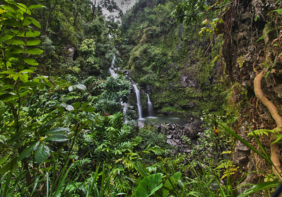 Upper Waikani Falls, Hana Highway, Maui