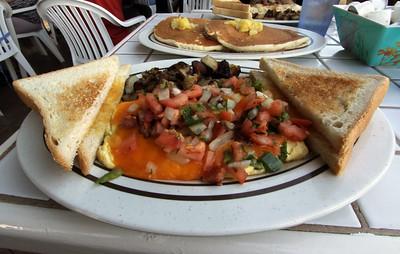 Lahaina Omelette, Gazebo Restaurant, Napili, Maui