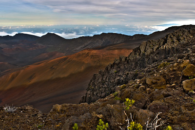 View of Haleakala 'Crater' in HDR Maui, Hawaii