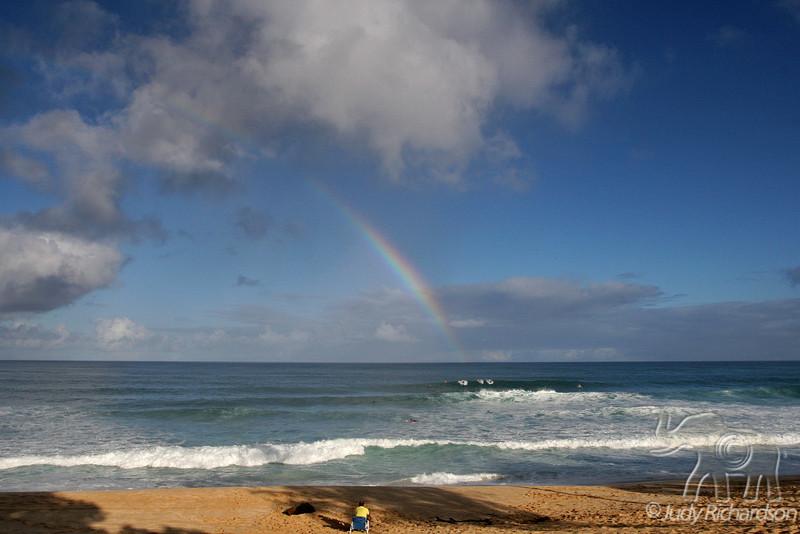Pipeline surfer's blessing
