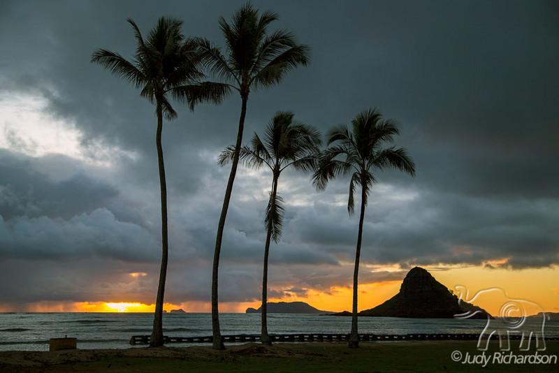 Sunrise at Chinaman's Hat ~Ku'uloa Beach Park, North Shore, O'ahu