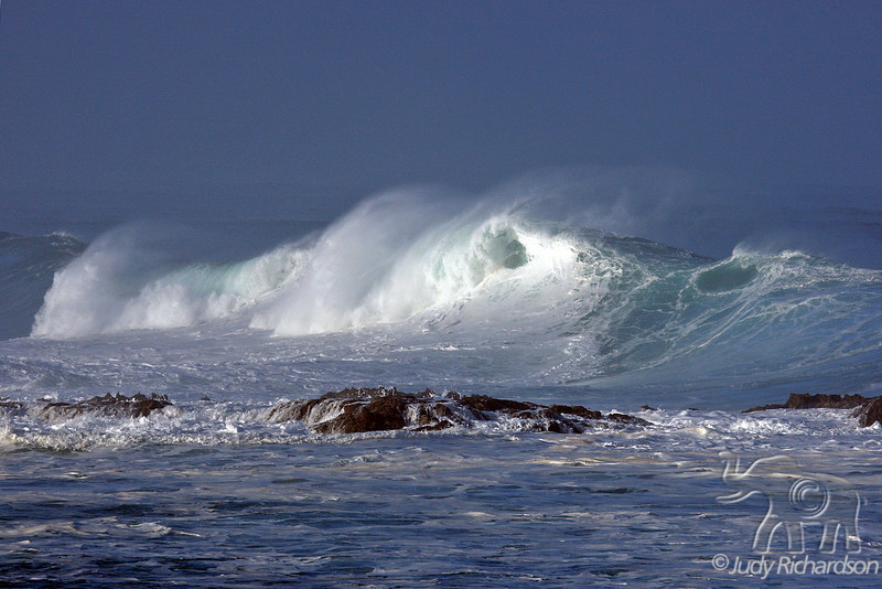 Churning wave action at Shark's Cove