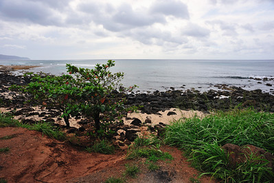 The North Shore is dotted with dozens of small beaches, apart from Sunset Beach, Haleiwa, Pipeline, and Turtle Bay  (C) 2009 Brian Neal
