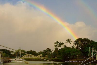 Rainbow over Haleiwa Harbor