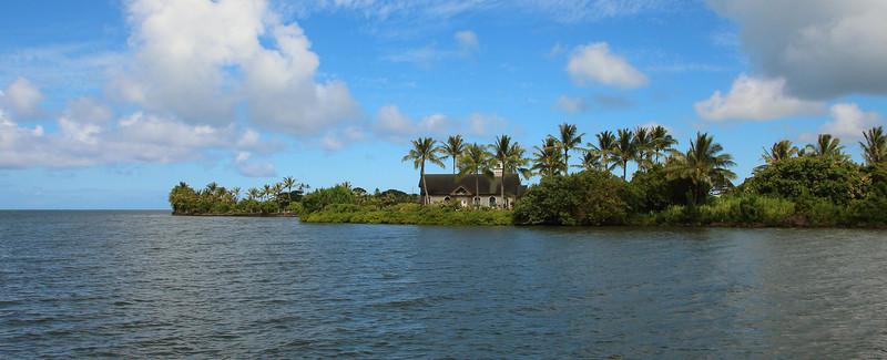 Hawaiian church on the water