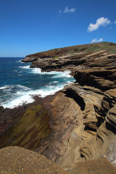 Wind rock formations on the southeast coast of Oahu