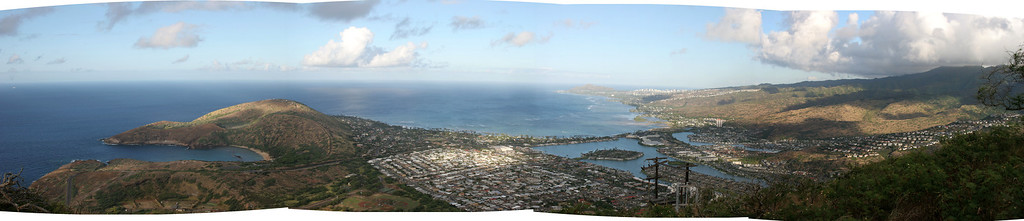 hawaii kai from the top of koko head.