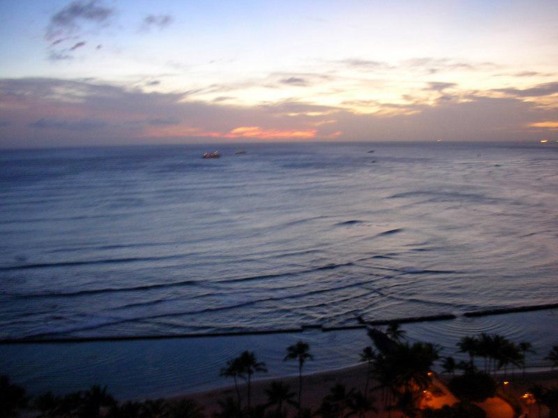 90.  Waikiki Sunset.JPG