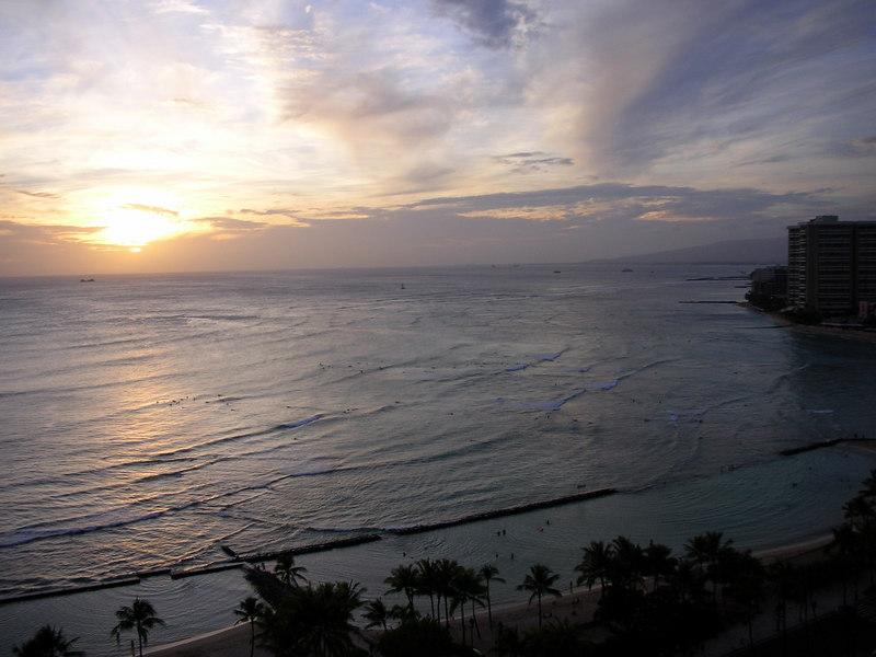 74. Waikiki Sunset.JPG