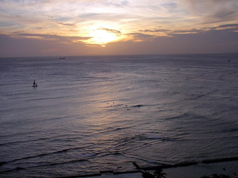 76. Waikiki Sunset.JPG