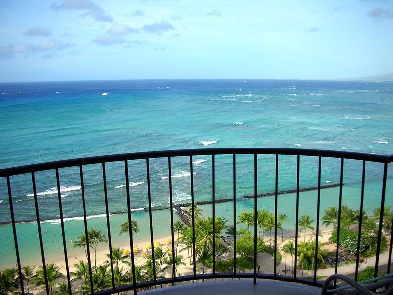 71. Waikiki Beach Scene From My Lanai.JPG