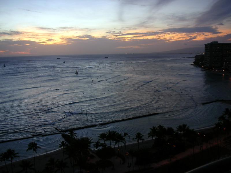 85.  Waikiki Sunset.JPG