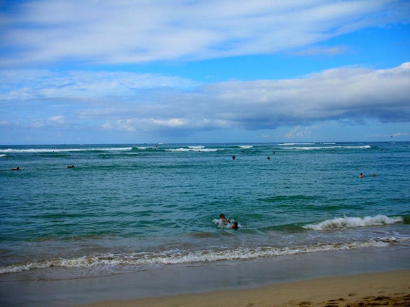 56.  Waikiki Beach Scene.JPG