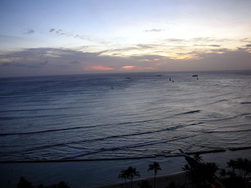88.  Waikiki Sunset.JPG
