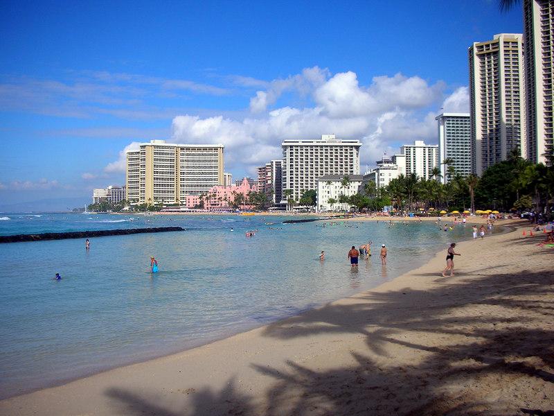 28.  Waikiki Beach Scene.JPG