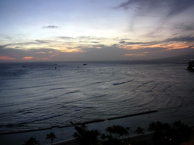 87.  Waikiki Sunset.JPG