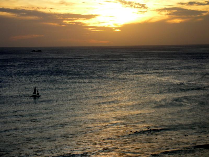 77.  Waikiki Sunset.JPG