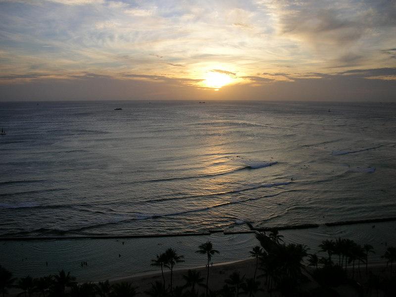 73. Waikiki Sunset.JPG