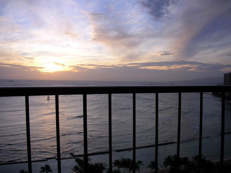 78.  Waikiki Sunset From My Lanai.JPG
