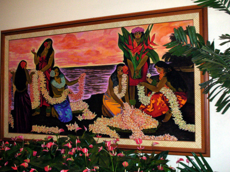 96. Waikiki Marriott Art.JPG