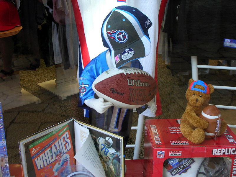 64. Aloha Tower Marketplace - Vince Young and the Titans.JPG