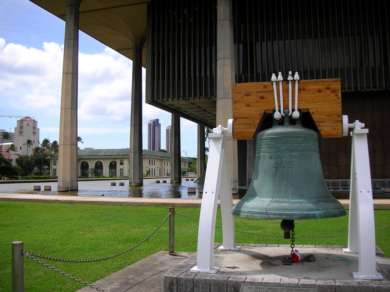 16. Liberty Bell at Hawaii State Capitol.JPG