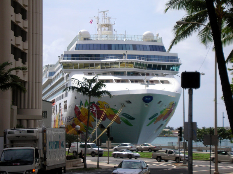 25. NCL Pride of Hawaii from Downtown.JPG