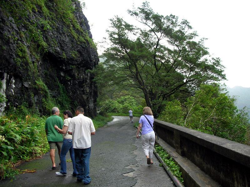 78. Walking On Old Pali Road.JPG