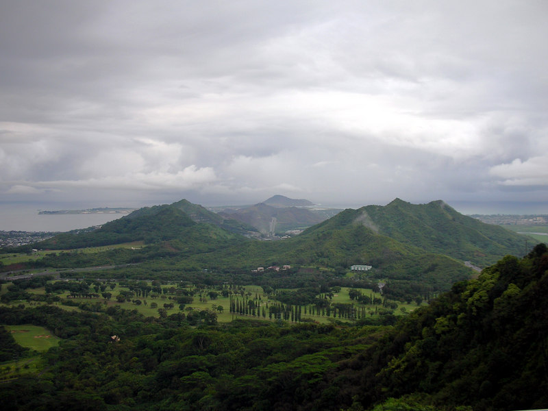 62. Kane'ohe Bay from Pali Lookout.JPG