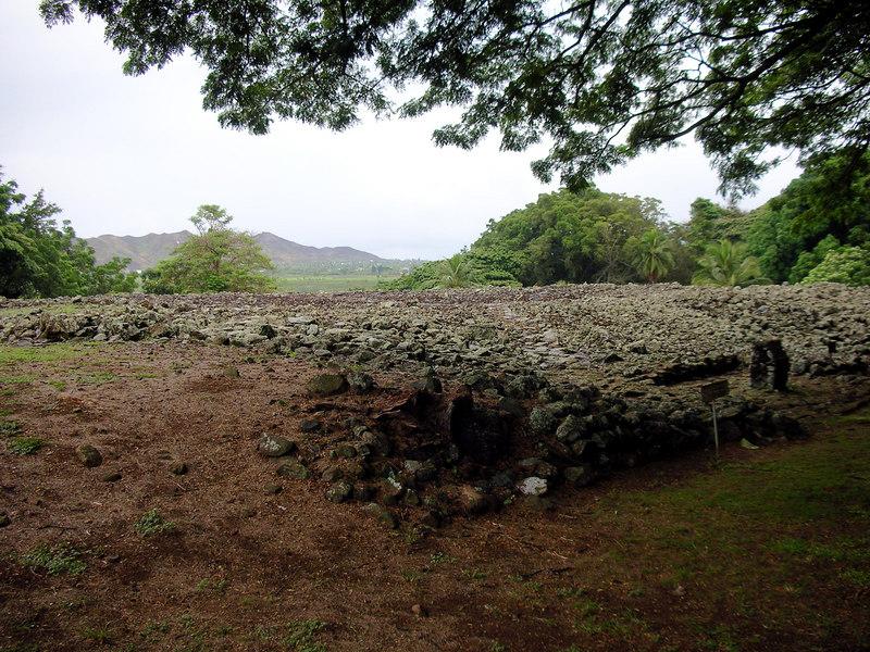 44. Ulupo Heiau Hawaiian Temple.JPG