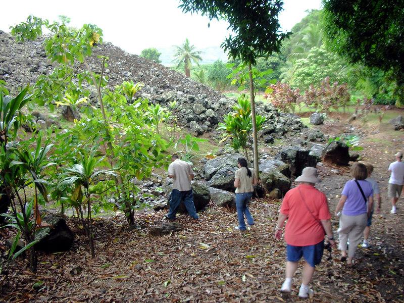 50. Ulupo Heiau Hawaiian Temple.JPG
