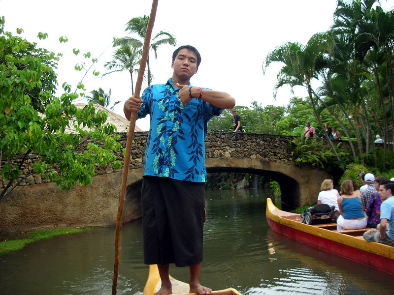 62. Polynesian Cultural Center Canoe Operator.JPG