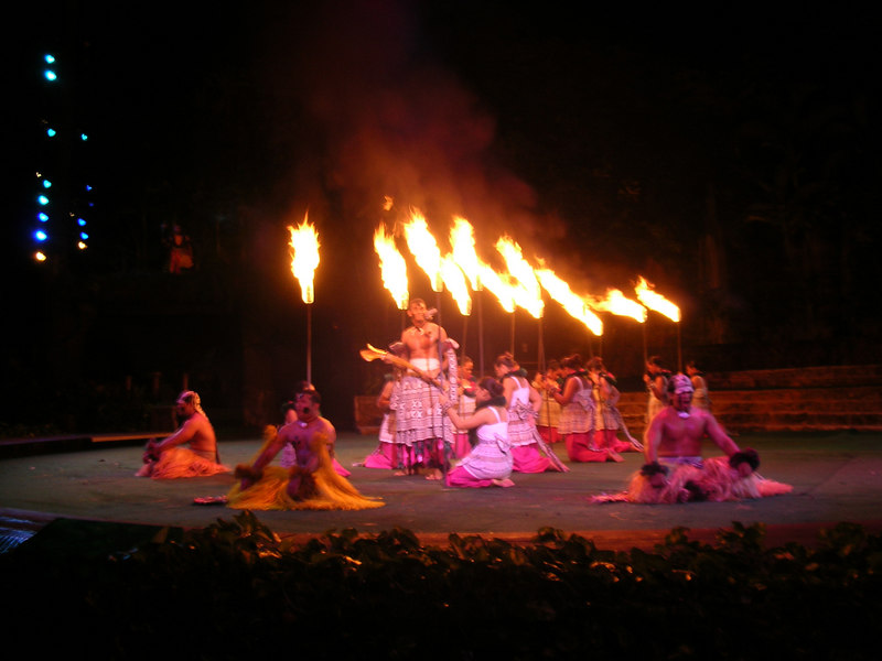 73. Night Show at Polynesian Cultural Center.JPG