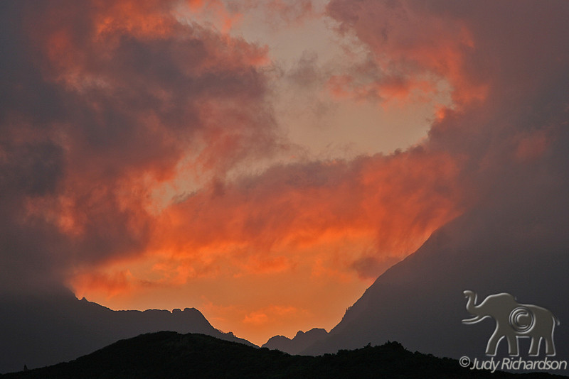 Fiery Sunset over Ko'olaus
