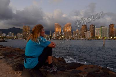 Lady sunset watching skyline 071411 155