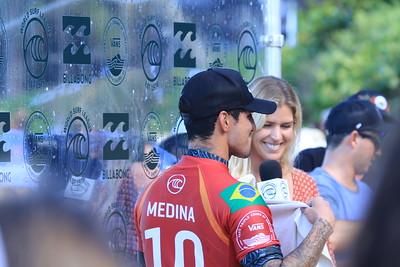 Rosy Hodge With Gabriel Medina (BRA)