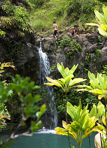 Waterfall off the Road to Hana on Maui