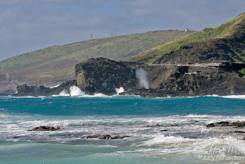View of blow hole from Sandy Beach