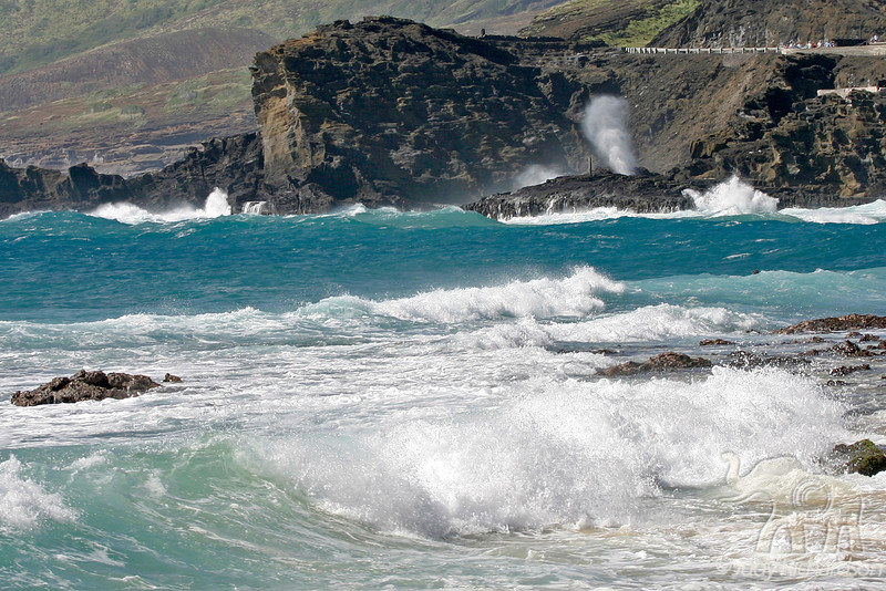 Rough conditions at Blow Hole & Sandy Beach