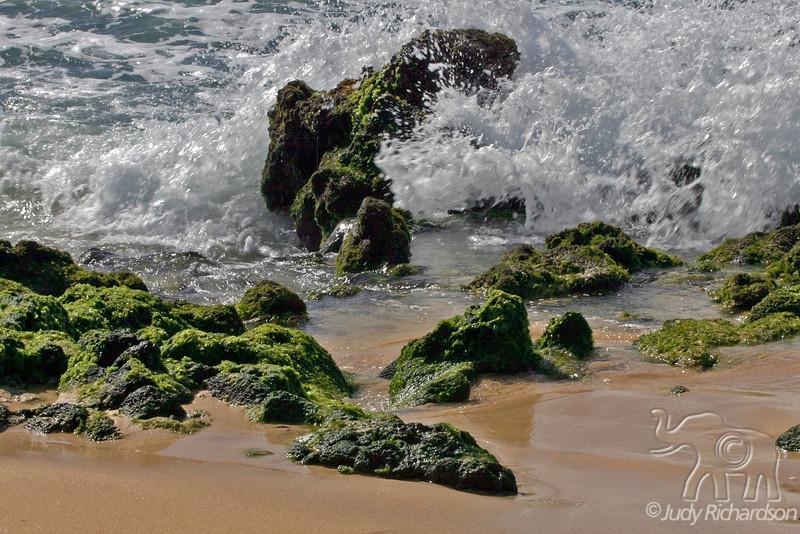 Sparkling surf at Sandy Beach-Beautiful but dangerous