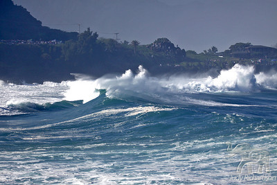 Intense wave action rolling into Waimea Bay