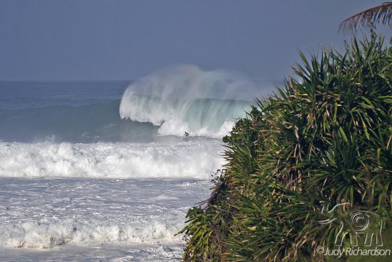 Waves rolling into Waimea