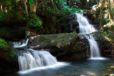 3 tier waterfall at Hawaii Botanical Gardens