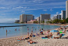 View of Waikiki from Kuhio Beach