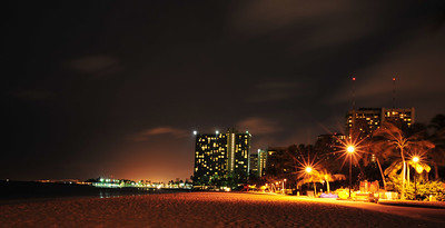 Waikiki Beach at Night  (C) 2009 Brian Neal