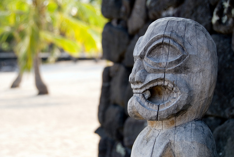 Tiki god at Pu'uhonua O Honaunau National Historic Park (City of Refuge)