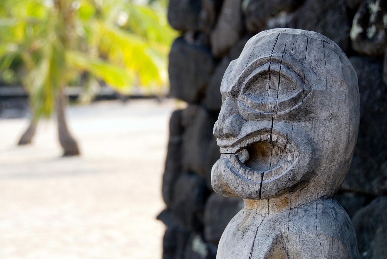 Tiki god at Pu'uhonua O Honaunau National Historic Park (City of Refuge)